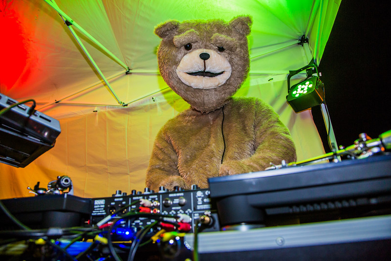 """A special guest DJ spun some tunes during UAF's 2012 Starvation Gulch bonfire celebration.  <div class=""""ss-paypal-button"""">Filename: LIF-12-3571-051.jpg</div><div class=""""ss-paypal-button-end"""" style=""""""""></div>"""