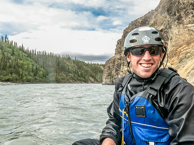 UAF Outdoor Adventures recreation manager Sam Braband leads a raft trip down the Nenana River in June, 2014.  Filename: OUT-14-4211-133.jpg