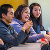 "Students relax after class in the Sacket Hall dining room on UAF's Kuskokwim Campus in Bethel.  <div class=""ss-paypal-button"">Filename: LIF-16-4859-046.jpg</div><div class=""ss-paypal-button-end""></div>"