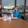 """UAF students Megan Gilmore and Ashley Bartolowits sit with their cofee and study materials in the 24-hour study area of the Rasmuson Library.  <div class=""""ss-paypal-button"""">Filename: LIF-11-3212-062.jpg</div><div class=""""ss-paypal-button-end"""" style=""""""""></div>"""