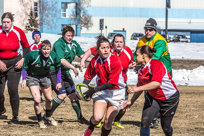 A women's rugby game was part of the attractions during SpringFest 2013.  Filename: LIF-13-3806-10.jpg