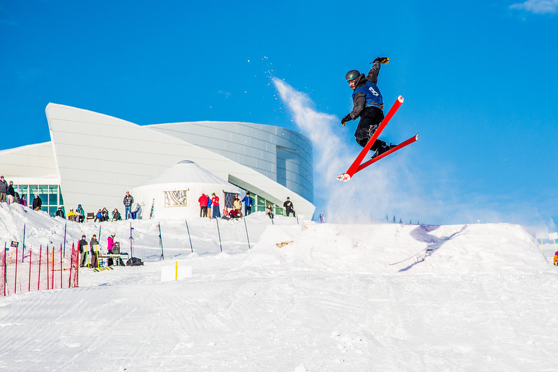"""UAF students and local high schoolers signed up to compete in the inaugural si and snowboard jump competition on the new terrain park in March, 2013.  <div class=""""ss-paypal-button"""">Filename: LIF-13-3750-284.jpg</div><div class=""""ss-paypal-button-end"""" style=""""""""></div>"""