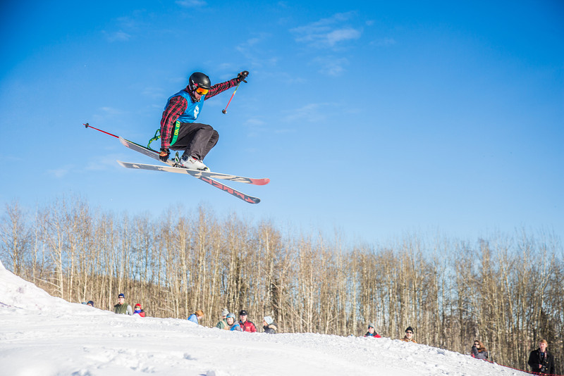 """UAF students and local high schoolers signed up to compete in the inaugural si and snowboard jump competition on the new terrain park in March, 2013.  <div class=""""ss-paypal-button"""">Filename: LIF-13-3750-158.jpg</div><div class=""""ss-paypal-button-end"""" style=""""""""></div>"""