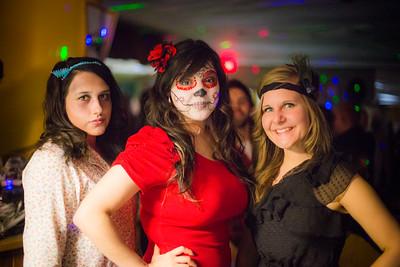 UAF Pub patrons wear various costumes during Halloween.  Filename: LIF-14-4367-28.jpg