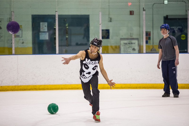 "The alternate tournament of ice dodgeball was played instead of the traditional mud volleyball during the 2013 Spring Fest activities.  <div class=""ss-paypal-button"">Filename: LIF-13-3803-65.jpg</div><div class=""ss-paypal-button-end"" style=""""></div>"