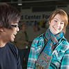 "Tachit Chairat and Kara La Rue stand in line at the smoothie stand in the upper level of the Wood Center on campus.  <div class=""ss-paypal-button"">Filename: LIF-11-3190-124.jpg</div><div class=""ss-paypal-button-end"" style=""""></div>"