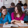 "UAF students Megan Gilmore and Ashley Bartolowits sit with their cofee and study materials in the 24-hour study area of the Rasmuson Library.  <div class=""ss-paypal-button"">Filename: LIF-11-3212-165.jpg</div><div class=""ss-paypal-button-end"" style=""""></div>"