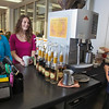 """UAF students Megan Gilmore (left) and Ashley Bartolowits (right) order warm drinks from the snack stand in 24 hour study area of the Rasmuson Library.  <div class=""""ss-paypal-button"""">Filename: LIF-11-3212-010.jpg</div><div class=""""ss-paypal-button-end"""" style=""""""""></div>"""