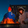 "Mathew Carrick and Sarah Azrael take their turn at the Honors Program homeless vigil Friday morning while the temperature hovered around -20°.  <div class=""ss-paypal-button"">Filename: LIF-12-3653-11.jpg</div><div class=""ss-paypal-button-end"" style=""""></div>"