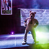 "The Nanook mascot strikes a pose on the stage at the beginning of  an after-dinner dance for athletes competing in the Junior Nationals Cross-Country Ski Championships March 16 in the SRC.  <div class=""ss-paypal-button"">Filename: LIF-13-3761-86.jpg</div><div class=""ss-paypal-button-end"" style=""""></div>"