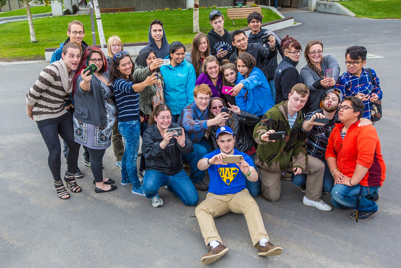 "UAF Orientation Leaders engage in team building exercises before students arrive on campus before the start of the fall 2015 semester.  <div class=""ss-paypal-button"">Filename: LIF-15-4635-050.jpg</div><div class=""ss-paypal-button-end""></div>"