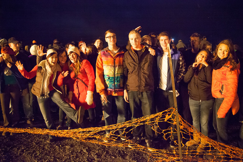 """Students enjoy the warmth and party atmosphere at the 2012 Starvation Gulch activites on the Fairbanks campus.  <div class=""""ss-paypal-button"""">Filename: LIF-12-3573-50.jpg</div><div class=""""ss-paypal-button-end"""" style=""""""""></div>"""