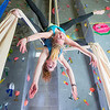 "Undergraduates Miriam Brooks, bottom, and Teal Rogers practice their silk climbing skills in the SRC.  <div class=""ss-paypal-button"">Filename: LIF-13-3819-227.jpg</div><div class=""ss-paypal-button-end"" style=""""></div>"
