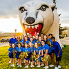 "The UAF cheerleaders pose in front of the inflatable Nanook before the annual Blue/Gold hockey game held in the Patty Ice Arena Sept. 29.  <div class=""ss-paypal-button"">Filename: LIF-12-3570-086.jpg</div><div class=""ss-paypal-button-end"" style=""""></div>"