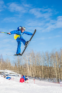 UAF students and local high schoolers signed up to compete in the inaugural si and snowboard jump competition on the new terrain park in March, 2013.  Filename: LIF-13-3750-65.jpg