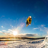 """Students enjoy some of the features of UAF's terrain park on a spring afternoon.  <div class=""""ss-paypal-button"""">Filename: LIF-13-3746-38.jpg</div><div class=""""ss-paypal-button-end"""" style=""""""""></div>"""