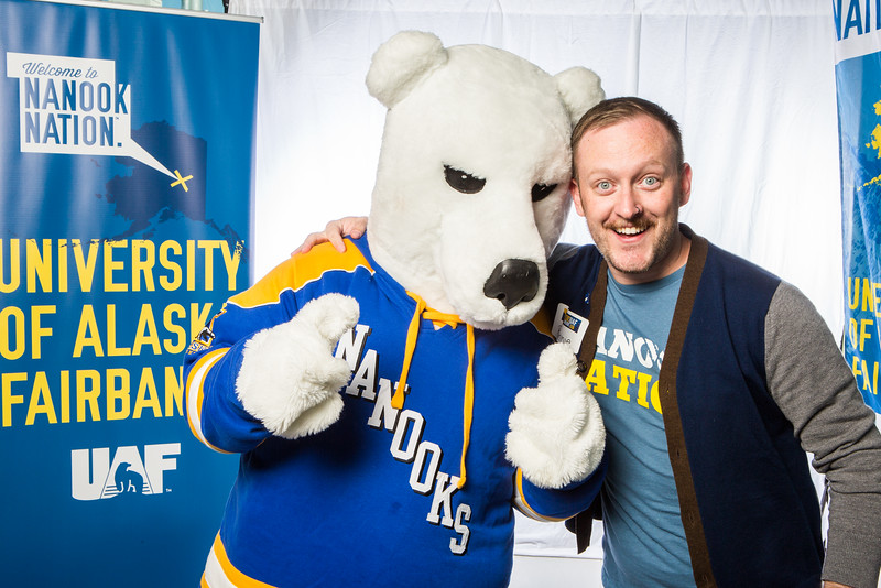 """UAF Transitions Programs Coordinator Ronnie Houchin takes a portrait during the summer 2016 Inside Out event hosted by the UAF's Office of Admissions and the Registrar.  <div class=""""ss-paypal-button"""">Filename: LIF-16-4926-41.jpg</div><div class=""""ss-paypal-button-end""""></div>"""