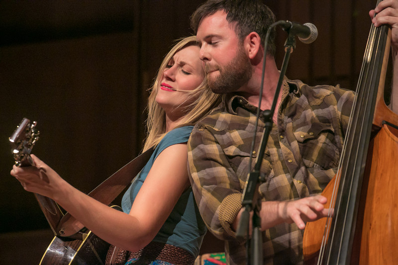 """The nationally acclaimed bluegrass band Bearfoot performed during one of two live recorded performances of the nationally broadcast radio show Mountain Stage in the Davis Concert Hall Aug. 17 and 18. The shows were sponsored by UAF Summer Sessions and KUAC-FM.  <div class=""""ss-paypal-button"""">Filename: LIF-12-3502-229.jpg</div><div class=""""ss-paypal-button-end"""" style=""""""""></div>"""