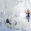 "Students take advantage of nice spring weather to try out their climbing skills on the new ice wall near the SRC.  <div class=""ss-paypal-button"">Filename: LIF-12-3321-097.jpg</div><div class=""ss-paypal-button-end"" style=""""></div>"
