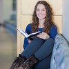 "Ashley Bartolowits reads in the hallway of the Syun-Ichi Akasofu building on campus.  <div class=""ss-paypal-button"">Filename: LIF-11-3242-088.jpg</div><div class=""ss-paypal-button-end"" style=""""></div>"