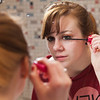 "Skarland Hall resident Hailley Myers, puts on some makeup in one of the dorm's newly re-modeled bathrooms.  <div class=""ss-paypal-button"">Filename: LIF-12-3322-151.jpg</div><div class=""ss-paypal-button-end"" style=""""></div>"