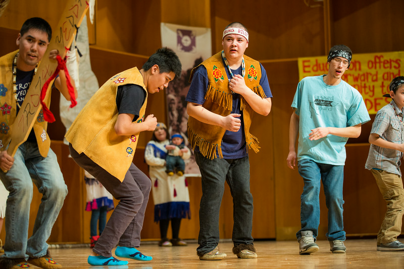 """The Troth Yeddha' dance group performs during the 2014 Festival of Native Arts at the Davis Concert Hall.  <div class=""""ss-paypal-button"""">Filename: LIF-14-4099-15.jpg</div><div class=""""ss-paypal-button-end""""></div>"""
