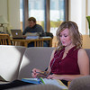"Music education major Anna Polum finds a comfortable spot to study in the Rasmuson Library.  <div class=""ss-paypal-button"">Filename: LIF-13-3950-60.jpg</div><div class=""ss-paypal-button-end"" style=""""></div>"