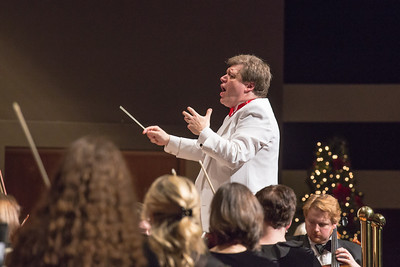 Conductor Eduard Zilberkant leads the Fairbanks Symphony Orchestra in their annual holiday performance in the Davis Concert Hall.  Filename: LIF-12-3669-72.jpg