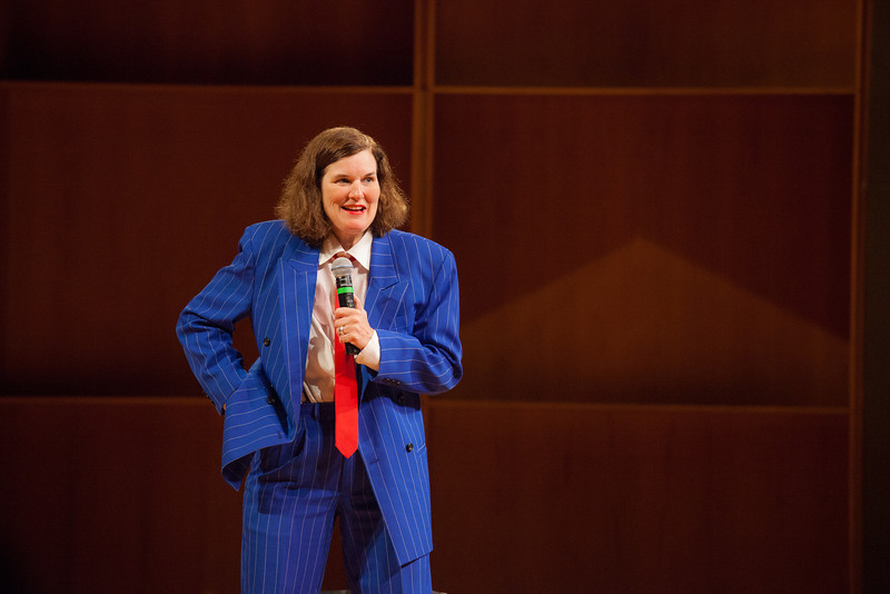 """Comedienne Paula Poundstone appeared before a full house in the Davis Concert Hall in March 2012.  <div class=""""ss-paypal-button"""">Filename: LIF-12-3323-017.jpg</div><div class=""""ss-paypal-button-end"""" style=""""""""></div>"""