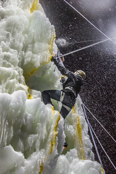 """A competitor makes his way to the top of the ice wall during a climbing contest on March 1.  <div class=""""ss-paypal-button"""">Filename: LIF-13-3748-167.jpg</div><div class=""""ss-paypal-button-end"""" style=""""""""></div>"""
