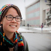 "UAF student Clarissa Zeller waits at the bus stop on the first snowy day on campus.  <div class=""ss-paypal-button"">Filename: LIF-11-3199-52.jpg</div><div class=""ss-paypal-button-end"" style=""""></div>"