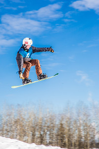 UAF students and local high schoolers signed up to compete in the inaugural si and snowboard jump competition on the new terrain park in March, 2013.  Filename: LIF-13-3750-55.jpg
