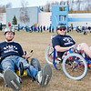 "Electrical Engineering major Isaac Thompson (left) and Mechanical Engineering major Karlin Swearingen pose for a portrait with their electronic powered tricycles during the 2012 Spring Fest field day activities.  <div class=""ss-paypal-button"">Filename: LIF-12-3384-74.jpg</div><div class=""ss-paypal-button-end"" style=""""></div>"