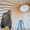 "Erik Ofelt, assistant director with UAF's Department of Recreation, Adventure and Wellness, watches progress being made on construction of a yurt at the top of the new terrain park.  <div class=""ss-paypal-button"">Filename: LIF-13-3691-6.jpg</div><div class=""ss-paypal-button-end"" style=""""></div>"