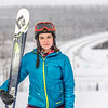 "Outdoor enthusiast Michelle Klaben takes her skis out on the UAF Terrain Park on a snowy afternoon.  <div class=""ss-paypal-button"">Filename: LIF-13-3721-159.jpg</div><div class=""ss-paypal-button-end"" style=""""></div>"