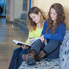 "Megan Gilmore (back) and Ashley Bartolowits (front) study in the hallway of the Syun-Ichi Akasofu building on campus.  <div class=""ss-paypal-button"">Filename: LIF-11-3242-157.jpg</div><div class=""ss-paypal-button-end"" style=""""></div>"