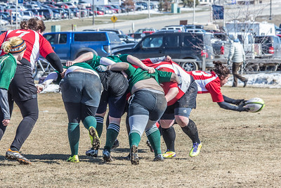 A women's rugby game was part of the attractions during SpringFest 2013.  Filename: LIF-13-3806-48.jpg