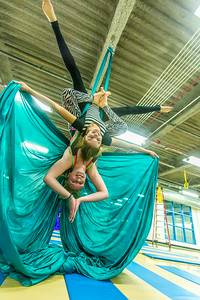 Members of the UAF Silk Club practice their formations in the Student Recreation Center on the Fairbanks campus. The group, which boasts about 25 students and staff members meet twice a week to learn new moves and increase strength and flexibility.  Filename: LIF-13-4025-10.jpg