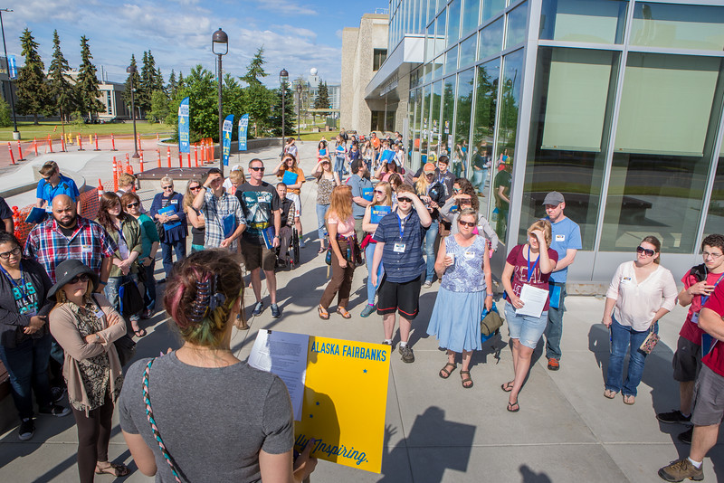 """Inside Out participants and their parents divide into groups for campus tours Friday, June 24, 2016 at the Murie Building.  <div class=""""ss-paypal-button"""">Filename: LIF-16-4925-16.jpg</div><div class=""""ss-paypal-button-end""""></div>"""