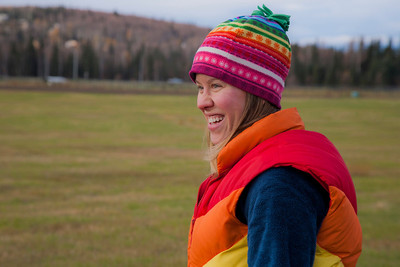 UAF Archivist Stacey Baldridge participated in the 2011 Farthest North Forest Sports Festival hosted by the UAF School of Natural Resources & Agricultural Sciences.  Filename: LIF-11-3185-107.jpg