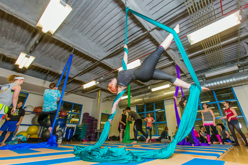 """Members of the UAF Silk Club practice their formations in the Student Recreation Center on the Fairbanks campus. The group, which boasts about 25 students and staff members meet twice a week to learn new moves and increase strength and flexibility.  <div class=""""ss-paypal-button"""">Filename: LIF-13-4025-11.jpg</div><div class=""""ss-paypal-button-end""""></div>"""
