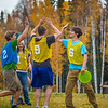 "Adam McCombs, #6, celebrates a score with teammates and opponents during an ultimate frisbee scrimmage on campus.  <div class=""ss-paypal-button"">Filename: LIF-12-3557-162.jpg</div><div class=""ss-paypal-button-end"" style=""""></div>"