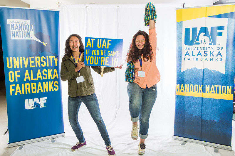 """Future UAF students and family members pose during Inside Out.  <div class=""""ss-paypal-button"""">Filename: LIF-16-4839-21.jpg</div><div class=""""ss-paypal-button-end""""></div>"""