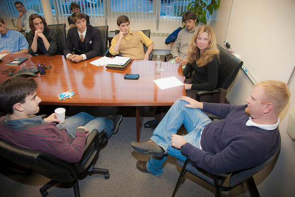 """Students Who Enjoy Economic Thinking is a student club organized through the UAF School of Management.  Here SWEET holds one of their meetings where they discuss current topics in economics.  <div class=""""ss-paypal-button"""">Filename: LIF-11-3196-07.jpg</div><div class=""""ss-paypal-button-end"""" style=""""""""></div>"""