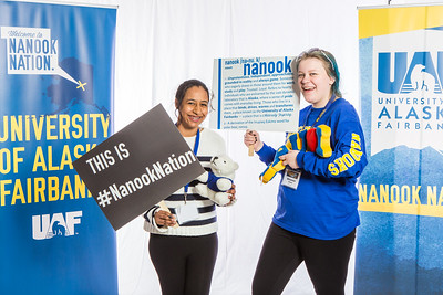 Future UAF students and family members pose during Inside Out.  Filename: LIF-16-4839-4.jpg