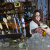 "Senior Kelley Ryan serves up a cold beer in UAF's Wood Center Pub.  <div class=""ss-paypal-button"">Filename: LIF-11-3217-105.jpg</div><div class=""ss-paypal-button-end"" style=""""></div>"