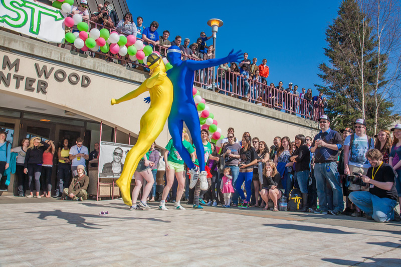 """A UAF dance group competed in the fance off held at the Spring Fest kick-off barbeque.  <div class=""""ss-paypal-button"""">Filename: LIF-12-3375-183.jpg</div><div class=""""ss-paypal-button-end"""" style=""""""""></div>"""