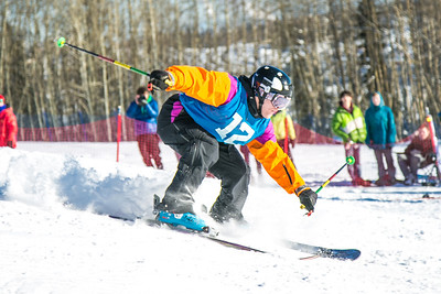 UAF students and local high schoolers signed up to compete in the inaugural si and snowboard jump competition on the new terrain park in March, 2013.  Filename: LIF-13-3750-409.jpg