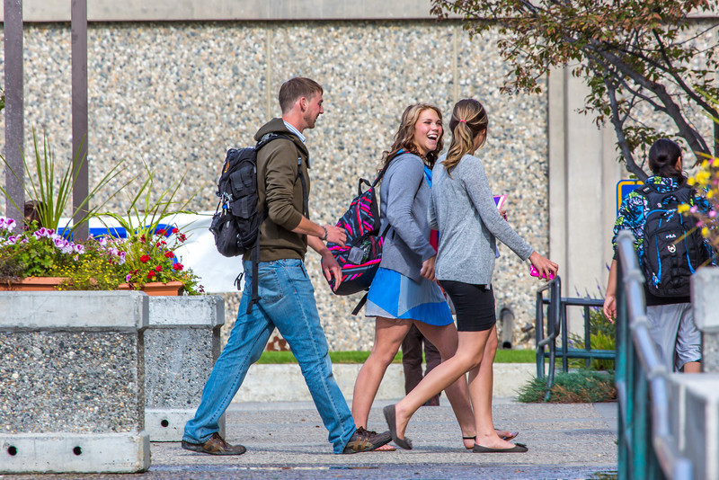 """Students head to the library for some study time on the first day of classes on the Fairbanks campus.  <div class=""""ss-paypal-button"""">Filename: LIF-13-3928-365.jpg</div><div class=""""ss-paypal-button-end"""" style=""""""""></div>"""
