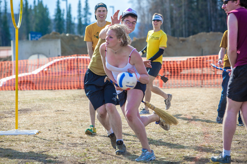 """Participants in the quidditch club, UAF's newest intramural sport, play a competitive match during SpringFest 2012.  <div class=""""ss-paypal-button"""">Filename: LIF-12-3382-46.jpg</div><div class=""""ss-paypal-button-end"""" style=""""""""></div>"""